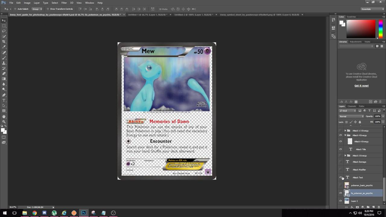 making pokemon card proxies in photoshop youtube