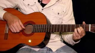 этюд ре мажор на гитаре урок