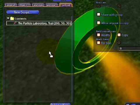 Particle editing magic! - Second Life Video TuTORial Tip of