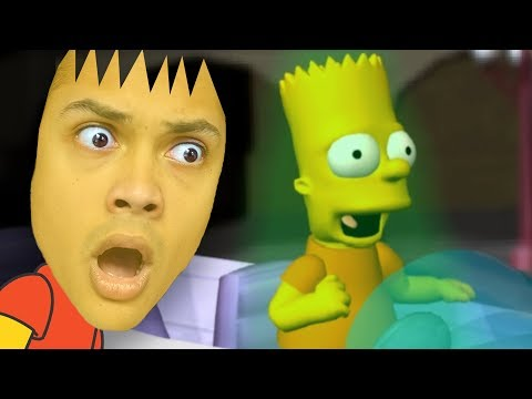 BART SIMPSON GETS ABDUCTED BY ALIENS !!! (Simpsons Hit and Run)