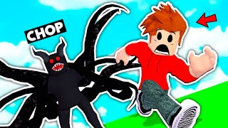 ESCAPING FROM A HAUNTED HOTEL IN ROBLOX WITH CHOP