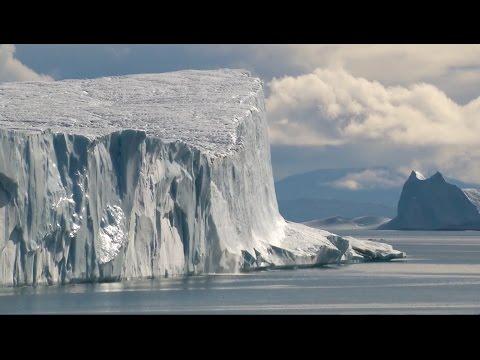 Iceberg and polar bear encounter off Baffin Island, Canada