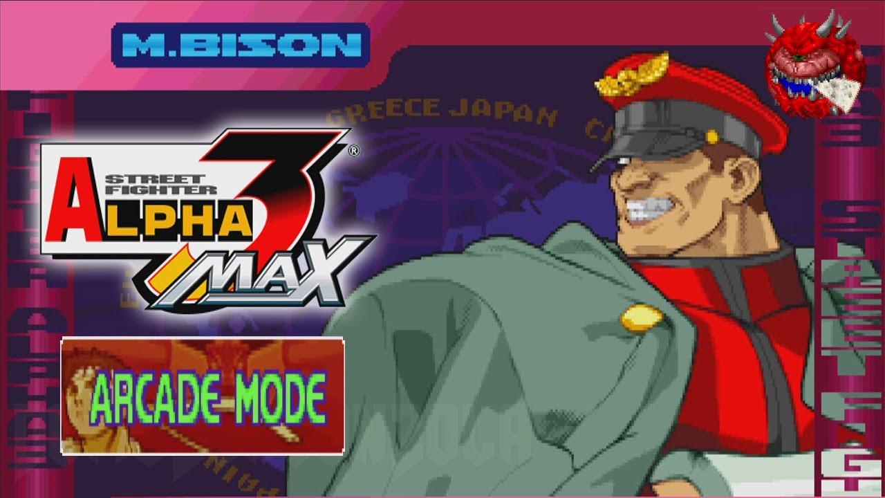 M.Bison Arcade   Street Fighter Alpha 3 Max   YouTube