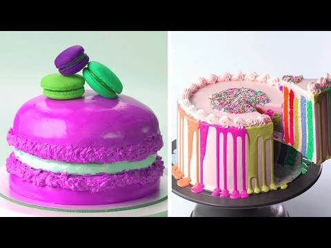 Beautiful Colorful Cake Decorating Ideas 🌈🌈🌈 Yummy Chocolate Cake Recipes For Perfect Party