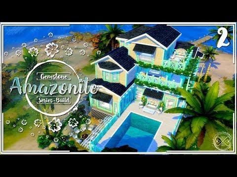 The Sims 4 Gemstone Series House Build w/CC #2 - The Stone Coastal Residence Speed Build