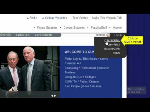 CUNY Portal: How to Register for a CUNY Portal Account - YouTube