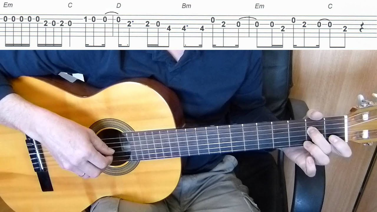 Let Her Go Passenger Easy Guitar Melody Tutorial Tab Guitar
