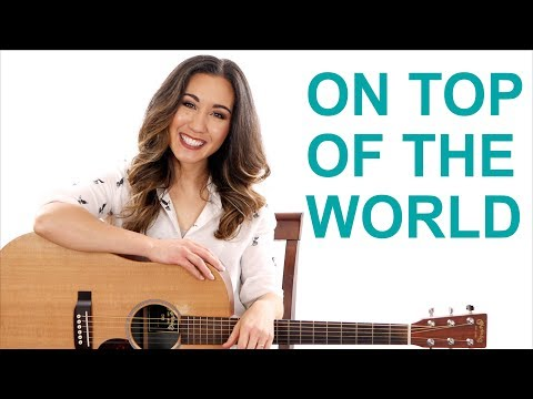On Top of the World - Imagine Dragons Guitar Tutorial with Play Along