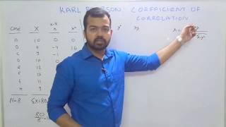 Karl Pearson Coefficient of Correlation (by SANAT SHRIVASTAVA)