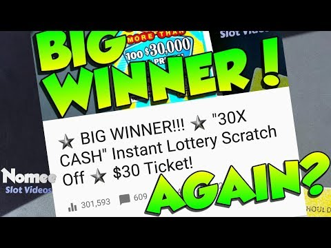 ★BIG WIN!!★ $30 Scratch Ticket - 30X CASH From The CT Lottery 🤑🎰