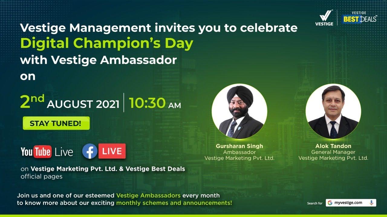 Champion's Day celebration with Mr. Alok Tandon & Mr. Gursharan Singh
