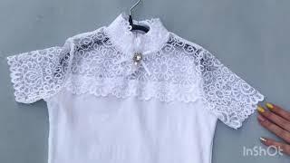 Школьная блузка для девочки Турция 684491. Обзор на брендовые детские вещи. Купить школьную блузку.