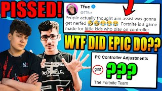 Tfue, Clix, FaZe Sway, Benjyfishy & Pros FURIOUS After Fortnite Did This To Aim Assist..