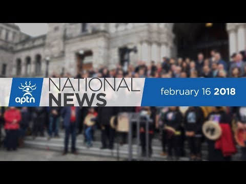 APTN National News February 16, 2018 – Moose Hide, Indigenous advocacy, Tina Fontaine trial