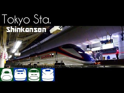 【鉄道PV】夜の東京駅で新幹線