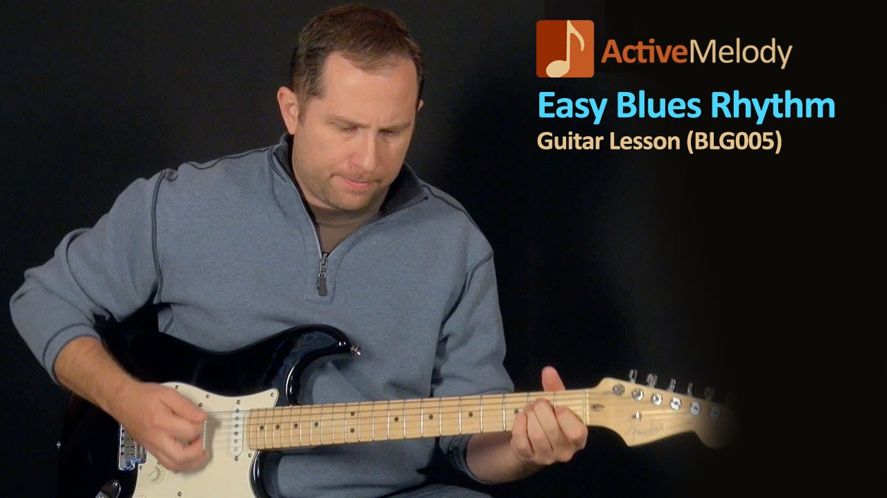 Easy Blues Guitar Lesson - Basic Rhythm - BLG005