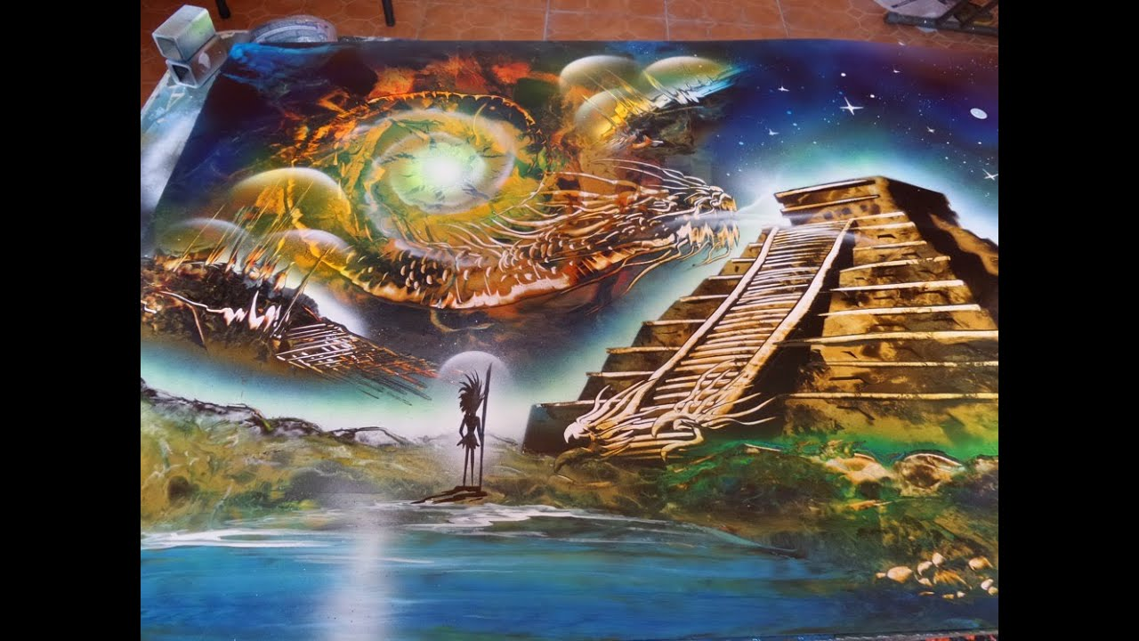 Four Elements Art : The four elements spray paint art youtube