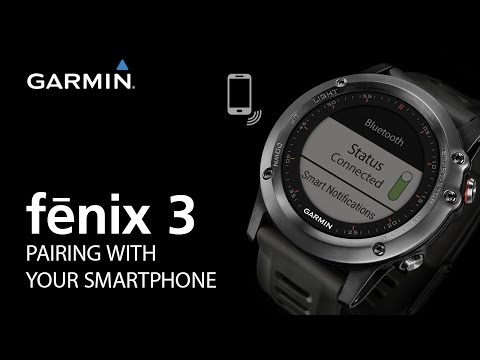 fenix 3: Pairing With Your Smartphone