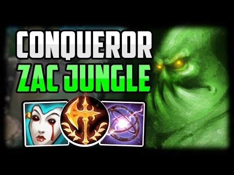 HOW TO PLAY ZAC JUNGLE - Zac Conqueror CARRY Commentary Guide - Unranked To Challenger Episode 5