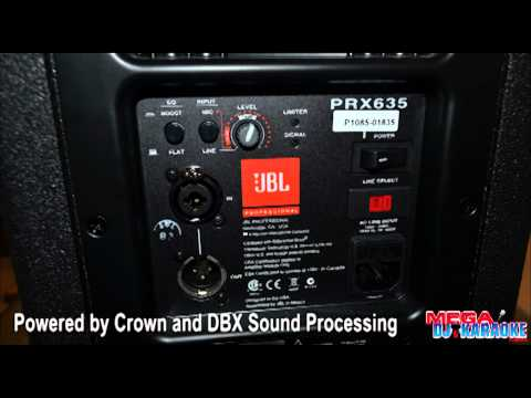 JBL PRX635 Powered Speaker and PRX618S-XLF Powered Subwoofer In Action at Mega DJ Karaoke Center
