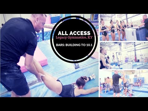 All Access: Legacy Gymnastics, KY | Bar Routine Build Up From Basic to 10.1