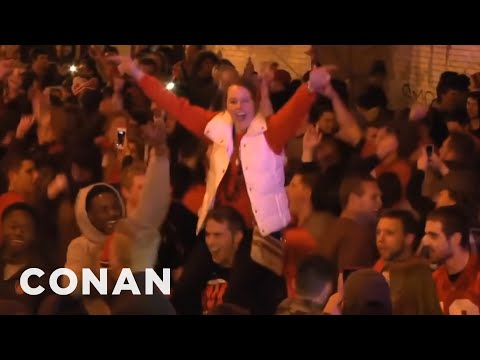 White People Rioting About Good News  - CONAN on TBS