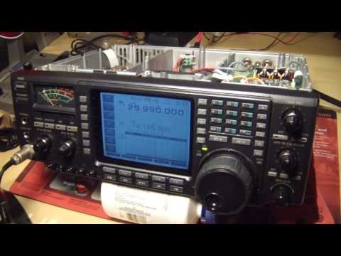 ICOM 756 HF radio, TX problems, inspection and repair, Part 1
