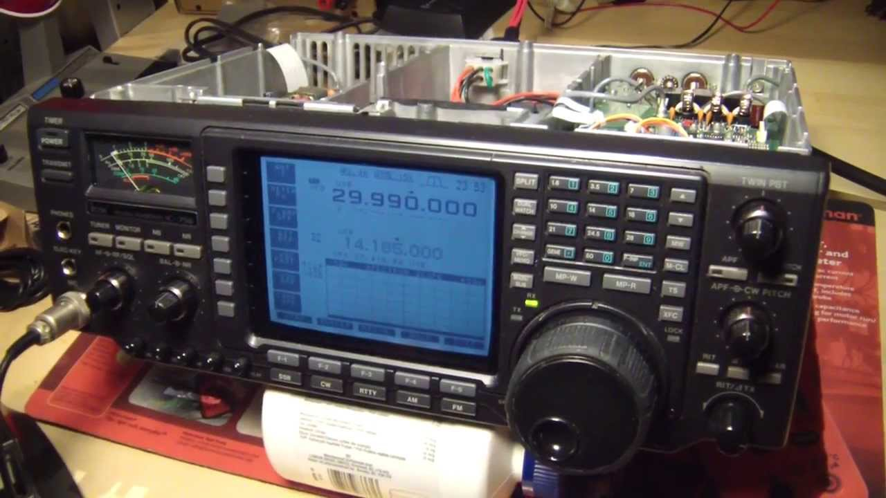 ICOM 756 HF radio, TX problems, inspection and repair, Part 1