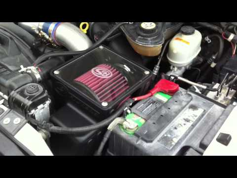 2006 FORD 6.0 DIESEL COLD START UP S&B COLD AIR INTAKE