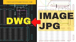 Raster Image to DWG | AutoCAD Inserting & Tracing Images | Convert JPG to DWG