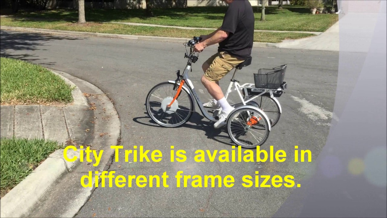 City Trike Tricycle Electro Pedal Assist Commuter Youtube Copyright 2006 Bicycledesignercom