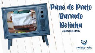 Paninhos e Afins – Pano de Prato com Barrado – Lê Rey