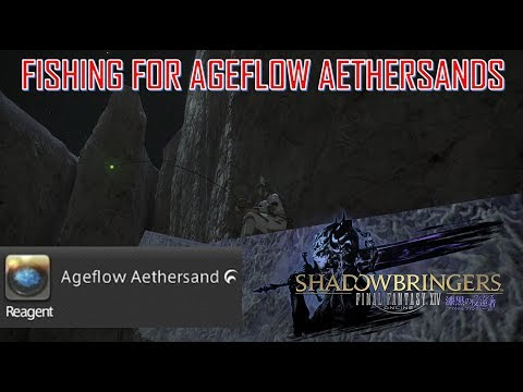 Final Fantasy XIV - Where To Farm Ageflow Aethersands With Fisher