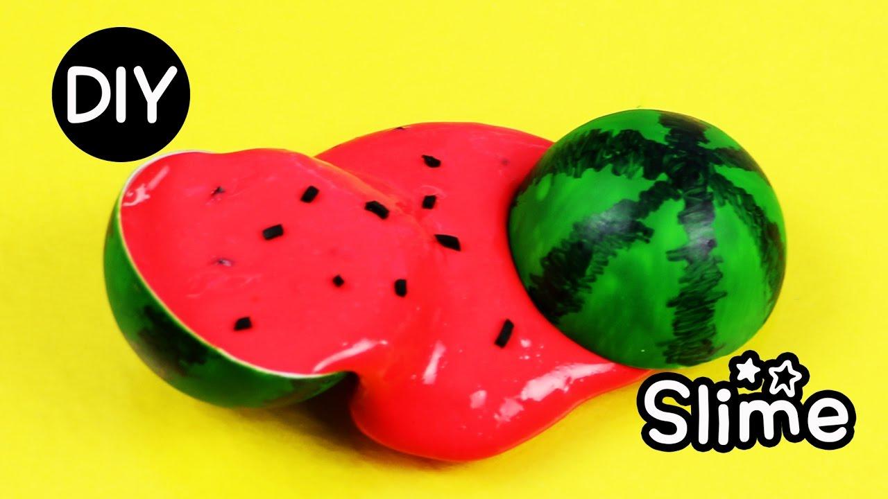 DIY Mini Watermelon Slime How To Easy Slime Recipe YouTube