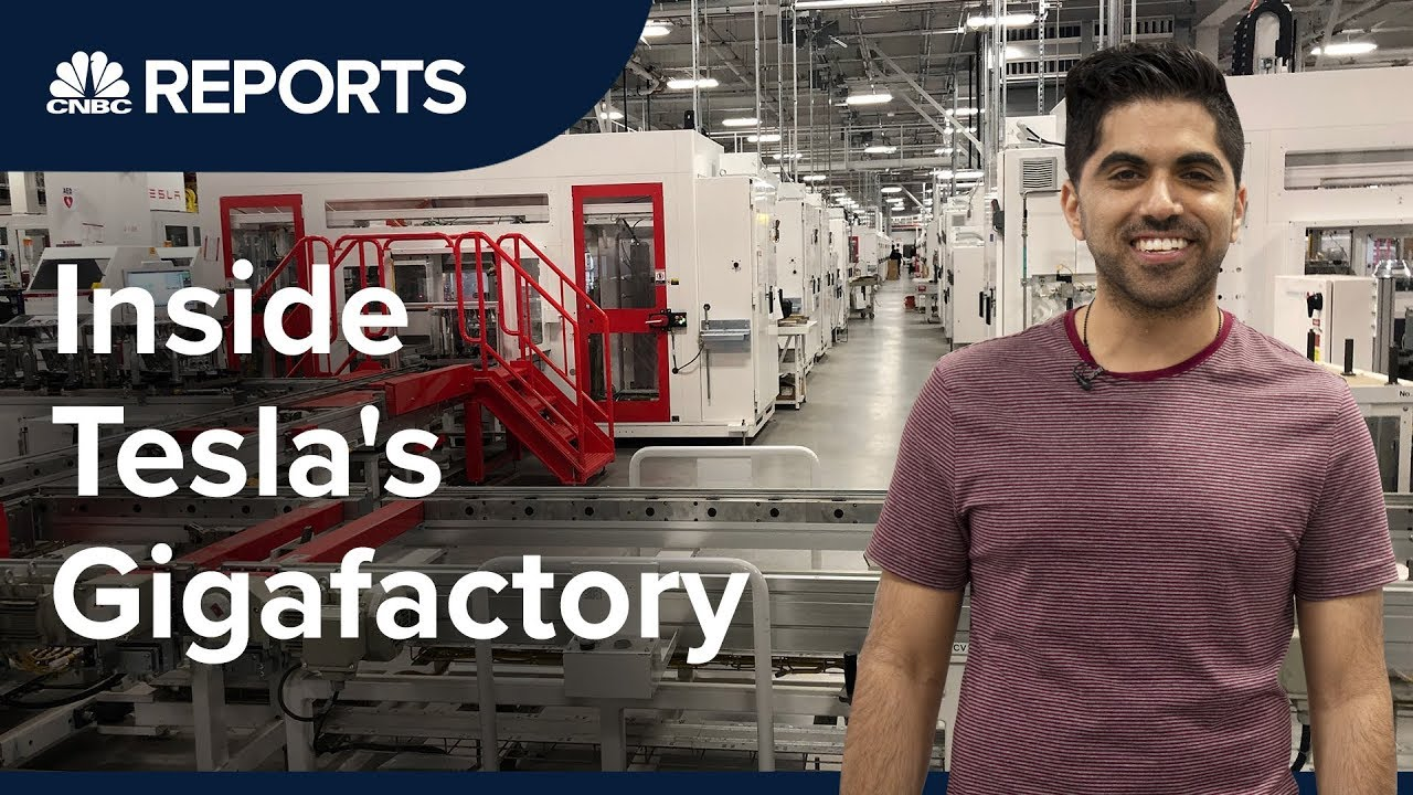 Take A Tour Inside Tesla S First Gigafactory Cnbc Reports Youtube