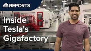 Take a tour inside Teslas first Gigafactory  CNBC Reports