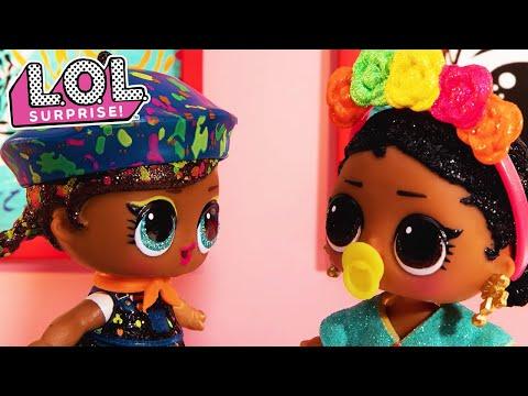 L.O.L. Surprise! Dolls | Art School Part 2 | Stop Motion Cartoon