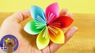 Ένα λουλούδι origami για ανοιξιάτικη διακό&si