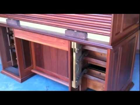 Lyon Furniture Australia  Rolltop Desk Drawer Lock