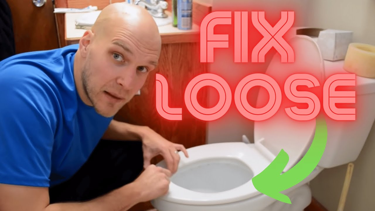How To Fix A Loose Toilet Seat Youtube