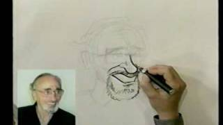 Bruce Blitz Draws a Cartoon Portrait