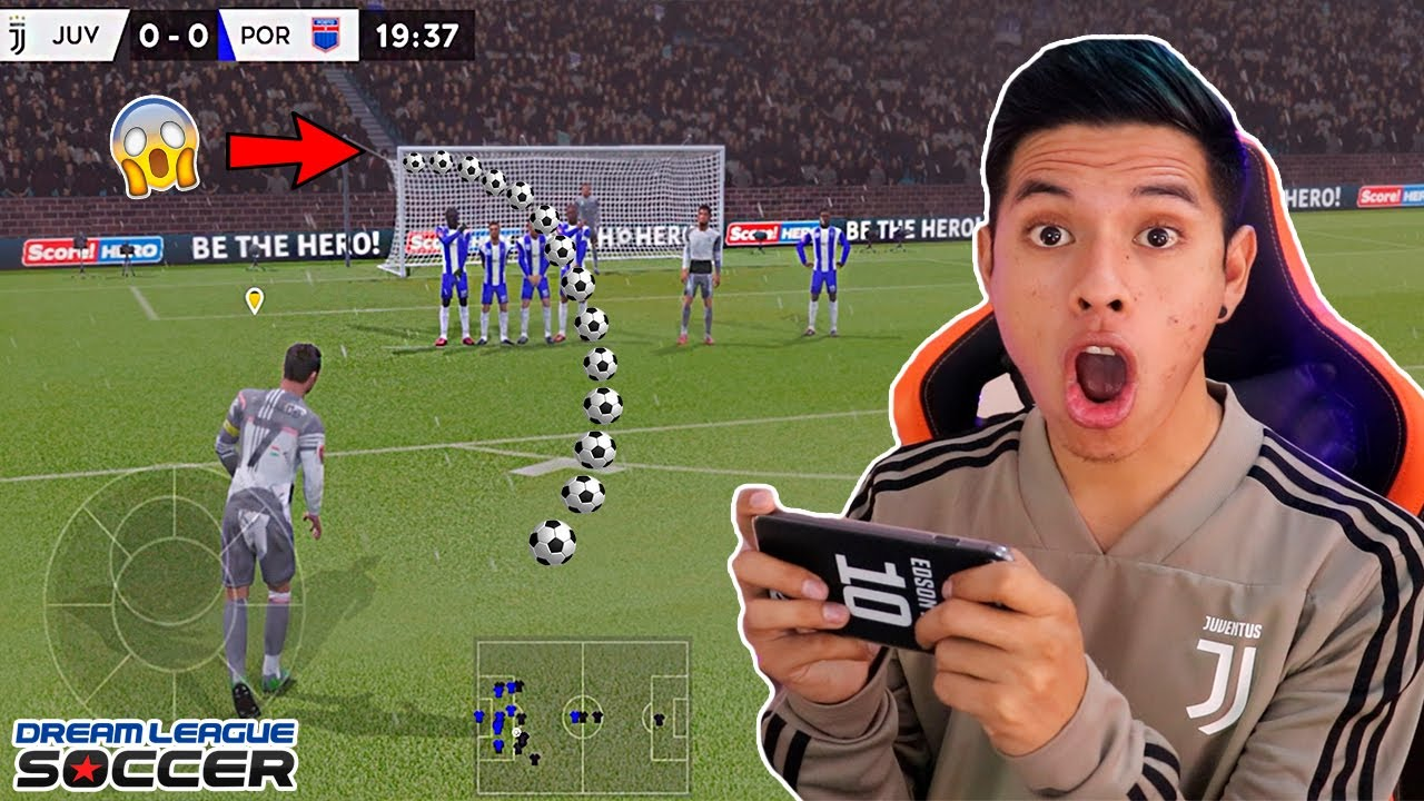 Tiros Libres Epicos De Este Jugador Dream League Soccer 2020 Youtube