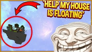 Minecraft Trolling: PUTTING PLAYERS HOUSE IN THE SKY! (Minecraft Pranks EP130)
