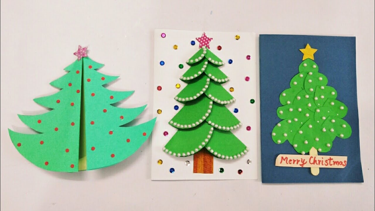 3 Diy Christmas Cards For Kids Handmade Christmas Greeting Cards For