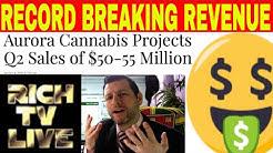 Aurora Cannabis Projects Q2 Sales of $50-55 Million