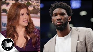 Video of Joel Embiid shooting while wearing UGG slides has Rachel Nichols 'scared' | The Jump