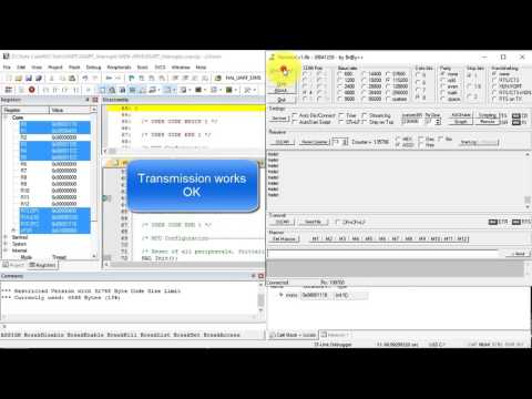 Tutorial CubeMX - 7- USART RxTx Interrupts STM32F4 Discovery