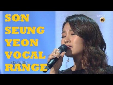 Son Seung Yeon - 손승연 - Immortal Song Vocal Range (A4-Bb5)