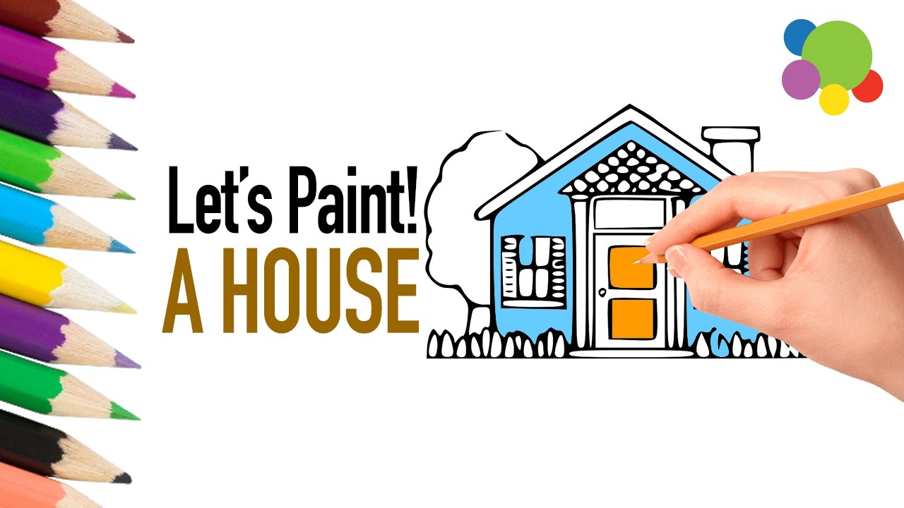 Coloring book real estate - Let Us Paint A Lovely House Painting For Kids Coloring Book With Colored Markers