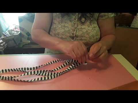 Bedroom curtain tie-backs poormans sewing